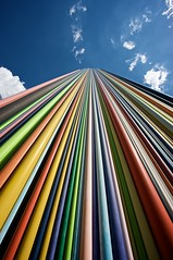 Catchy Colors (h.andras_xms) Tags: city sky sculpture paris color canon europe 1ds catchy markiii alignements handras wwwxmshu httpxmshu goldenaperture