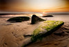 Face In The Sand (BarneyF) Tags: sunset sea beach rock liverpool canon landscape competition wirral westkirby merseyside hilbreisland firstquality deeestuary golddragon aplusphoto theperfectphotographer theassignment canontheassignment