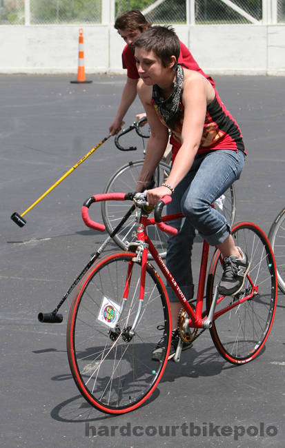 bike polo girl red bike GCMPOLO