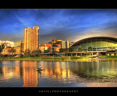 Adelaide River Torrens - HDR + DRI (:: Artie | Photography :: Offline for 3 Months) Tags: park water photoshop canon river cs2 australia pelican conventioncenter adelaide hyatt southaustralia efs dri hdr artie rivertorrens 3xp photomatix digitalblending tonemapped tonemapping 400d rebelxti guasdivinas