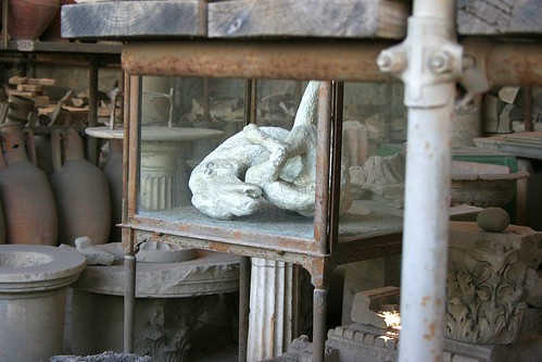 Pompeii Artefacts - Dog in agony