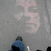 Graffiti on Paris sidewalk