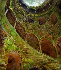 Inside the initiation well (Katarina 2353) Tags: trees mist tree green castle history film portugal mystery architecture analog photography nikon europe image quintadaregaleira sintra unesco well worldheritage portogallo palas portugalia initiationwell sintraportugal carvalhomonteiro corredoriniciatico coronationofmary katarinastefanovic katarina2353 insideawell masonicinitiationwellinquintadaregaleira