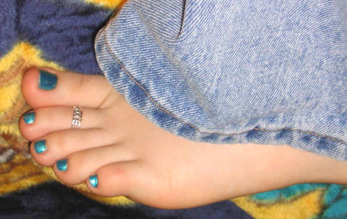 cute teen feet