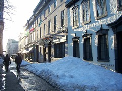 au vieux something-or-other (trepelu) Tags: city snow couple restaurants