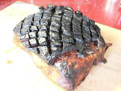 Schweinebraten mit Honigglasur und Ananaskraut 001