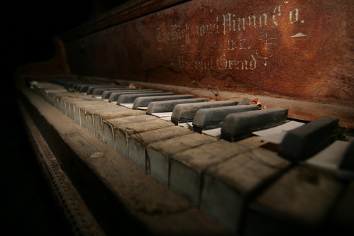 Old forgotten Piano