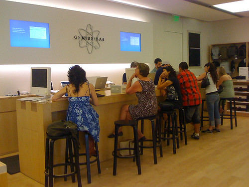 The Genius Bar at the Clarendon Apple retail store - Taken With An iPhone