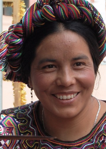 A beautiful weaver from Guatamala