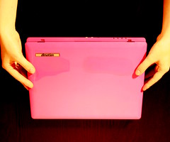 dimotion in den Hnden (katisommer) Tags: pink notebook pc amazing laptop rosa ditech dimotion arbeitamlaptop