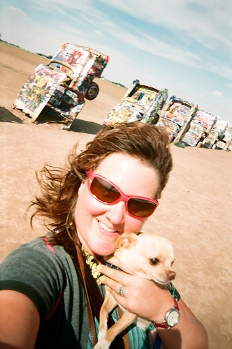 ellen jo & floyd at the cadillac ranch