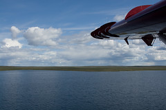Tundra! (Jason Pineau) Tags: lake canada airplane nt aircraft aviation flight nwt northwestterritories turbine seaplane turboprop floatplane courageous dehavilland dhc3 airtindi cfzdv