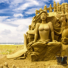 European Sand Sculptures Festival 2008 (siebe ) Tags: summer sculpture holland art beach dutch strand sand boulevard kunst nederland thenetherlands disney mermaid 2008 sandsculpture zeemeermin littlemermaid sandsculptures noordwijk zand zandsculptuur zandkasteel noordwijkaanzee aplusphoto europeansandsculpturesfestival incelebrationofdisney hollandstock
