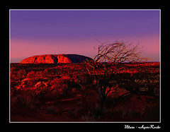 Dreamland of the Anangu (beng j.) Tags: travel sunset sunrise twilight desert australia unesco aborigine outback uluru monolith redcenter redearth worldheritage ayersrock supershot platinumphoto bestofaustralia top20australia