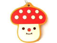 decole mushroom air freshener (Peachypan) Tags: cute mushroom car smiling japan japanese kawaii import happyface scent airfreshener decole peachypan decolello