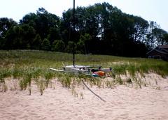 Pier Port (Meg.M) Tags: beach grass boat sand lakemichigan sh1 pierport scavengerhunt101