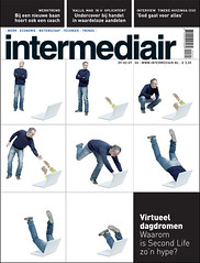 cover design Intermediair magazine (jaap!) Tags: life art illustration computer magazine photography design graphic internet cover virtual hype second covers daydream jaap biemans artdirection dissapear coverdesign artdirector