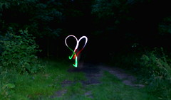 For the love of nature (binaryCoco) Tags: light green night dark licht heart nacht path hannover grn herz dunkel feldweg laatzen