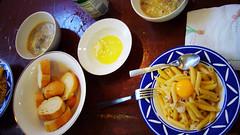白醬義大利麵+台式玉米湯+法國麵包 (by 張家振)