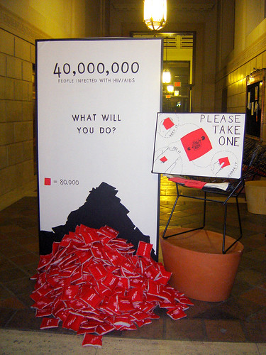 World AIDS Day installation
