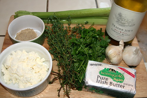 Ingredients for Moules a La Mariniere