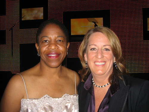 NCLR executive director Kate Kendall, right, and her wife Sandy Holmes. They have been together for 15 years; married in July.