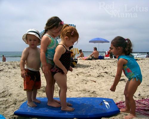 boogie boarding kids