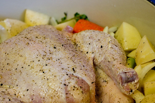 Pot-Roast Chicken Ready to Cook