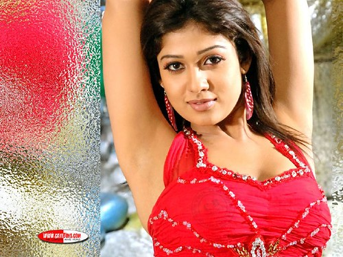 Nayanthara in sexy red corset wallpapers