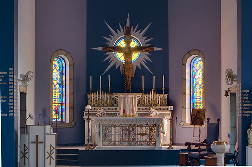 Saint John the Baptist Roman Catholic Church, in Villa Ridge (Gildehaus), Missouri, USA - altar