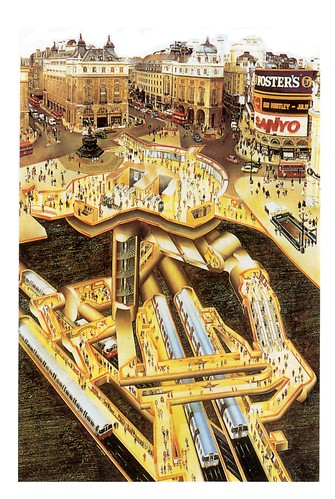 Piccadilly Circus cutaway view