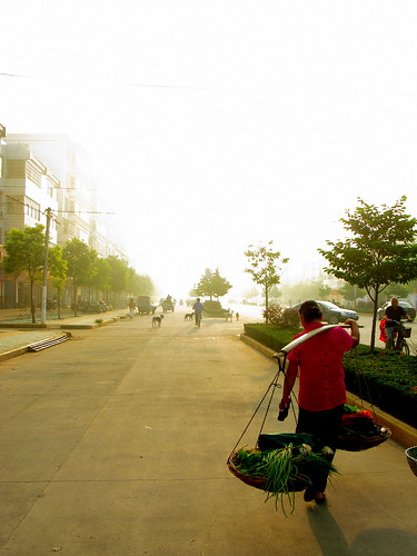 Early morning in Luoshan, Henan Province, China