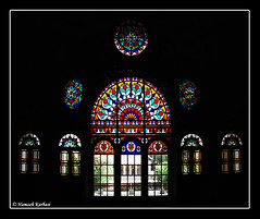 (Hamzeh Karbasi) Tags: old house window glass colorful iran persia  kashan isfahan orosi    isfehan  ameri  hamzeh kingseat karbasi hamzehkarbasi     ameriha      themerishouse