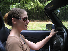 tammy driving on the parkway