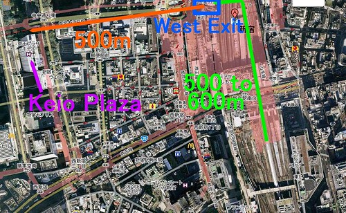 shinjuku station aerial map nex