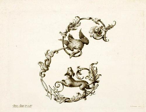 21-letra E-Poggy Mauro 1750- Alfabeto di lettere iniziali