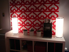 bookcase, ikea fabric, coffee, cactuses (alist) Tags: english ikea design office asu decorate alicerobison susanellsworth