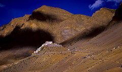 Kye Gompa, Spiti (sapru) Tags: mountain mountains architecture landscape religious design still cool fantastic quiet peace arty artistic buddhist religion creative relaxing restful calming surreal floating peaceful tranquility buddhism calm architectural monastery silence harmony serenity serene himalaya dreamlike hush stillness tranquil himalayas balanced poised spiti gentle soothing imaginative calmness quietness comforting gompa composed aesthetic otherworldly illusory inventive unruffled untroubled unperturbed unworried trancelike