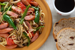 Pasta - Soy Sauce Mix (cocoip) Tags: macro coffee canon bread lunch eos mix pasta 60mm  saysauce 50d eos50d canoneos50d