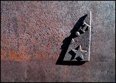sTar (JessiQua) Tags: travel shadow broken metal t star rust shapes roadtrip damage letter bodie bodieghosttown latoseattle