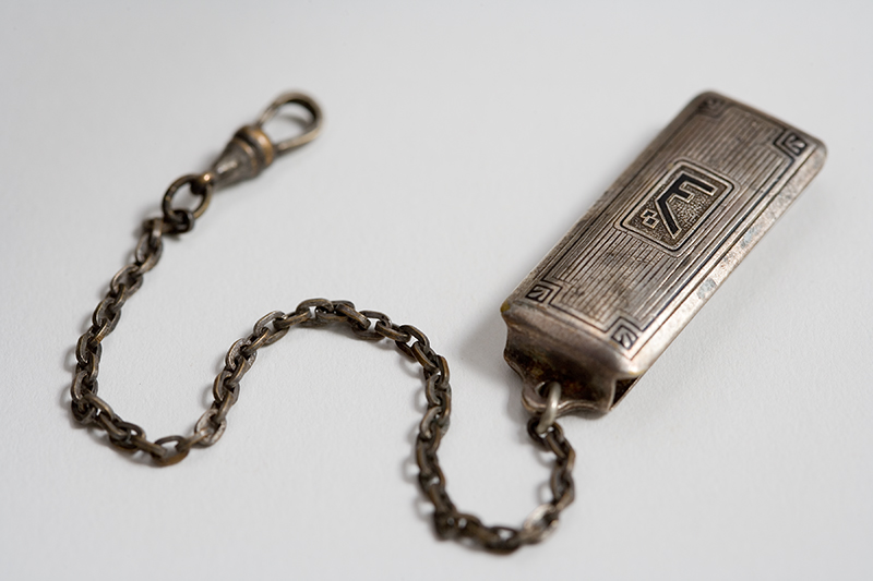 Hickok Beltogram Sterling Silver Watch Fob Key