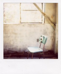 everything in its right place, (mika-rin) Tags: abandoned polaroid sx70 ruin sacred lotta  600film