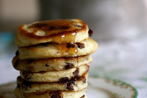 Milk Chocolate Chip Pancakes