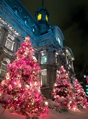 La mairie toute en lumiere (photo-saube) Tags: city quebec montreal hiver olympus matin decembre urbain samedi landsape chrismast