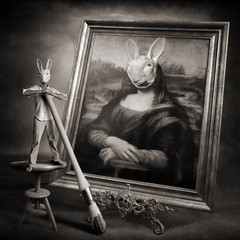 Mad Bunny is an original painter (yves.lecoq) Tags: monalisa leonardo dreamcatcher alarecherchedutempsperdu madbunny hourofthesoul thetempleofaphrodite carrfranais
