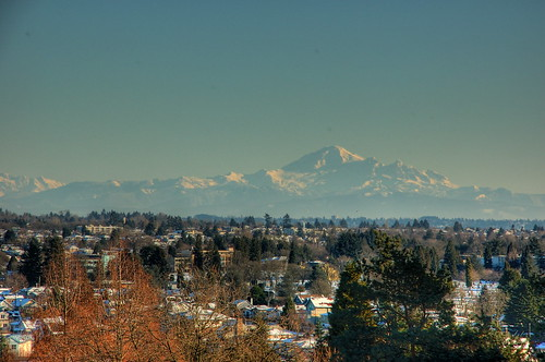 Mount Baker from Queen E Park HDR