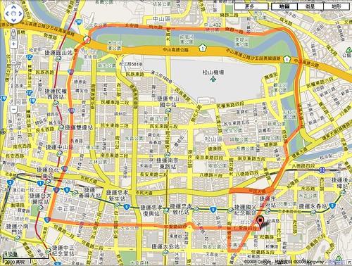 2008 Taipei ING Half Marathon Map