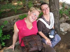 Jordi and Devi - Ramana's Cave - Mt. Arunchala