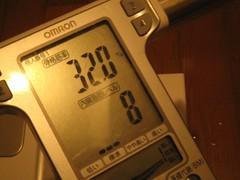 こんにゃくラーメンダイエット:骨格筋率と内臓脂肪レベル