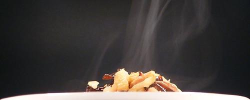 Polenta mit Chinakohl und Pilzen